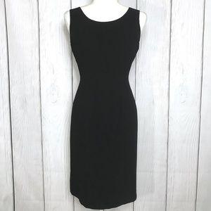 Kasper Petite Black Midi Work Dress